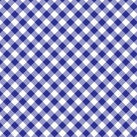 Royal Blue Basic Plaid Printed Vinyl - Craft Vinyl