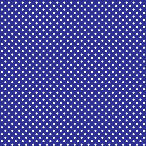 Royal Blue with Small White Polka Dots Printed Vinyl - Craft Vinyl