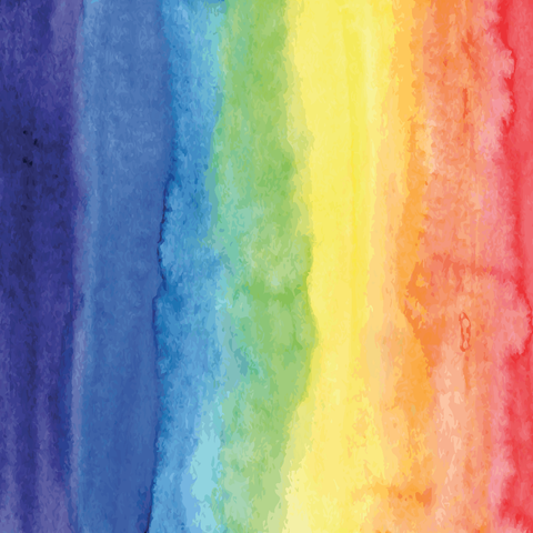 Rainbow Watercolor Printed Vinyl - Vinyl Printcess - 1