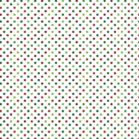 Christmas Polka Dots Printed Craft Vinyl