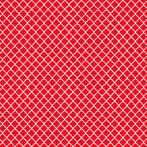 Red Quatrefoil Patterned Vinyl