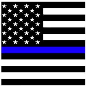 Thin Blue Line Square Flag Printed Vinyl