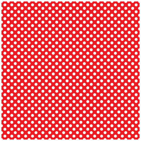 Small Red With White Polka Dots Printed Craft Vinyl