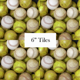 Softball Patterned Craft Vinyl