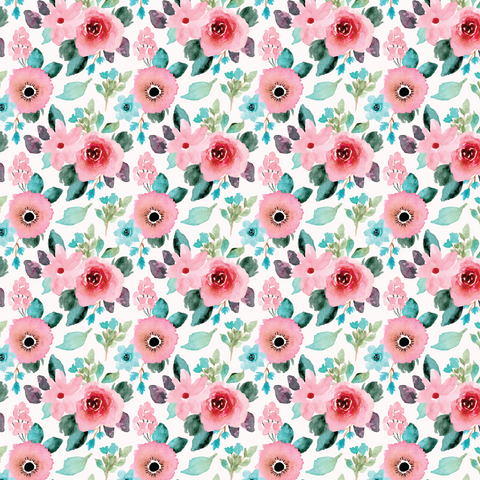 Spring Watercolor Floral Printed Vinyl - Craft Vinyl