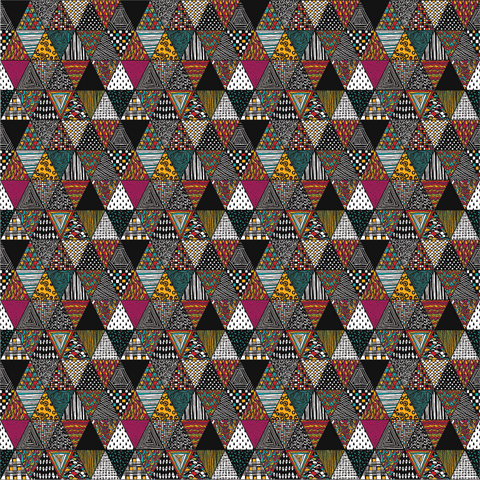 Triangle Patchwork Printed Vinyl