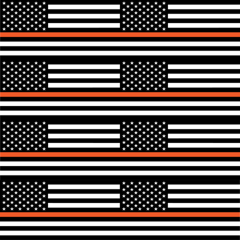 Thin Orange Line Flag - Large Scale - Printed Vinyl
