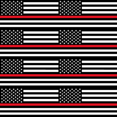 Thin Red Line Flag - Large Scale - Printed Craft Vinyl
