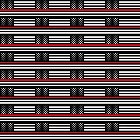 Thin Red Line Flag Printed Craft Vinyl