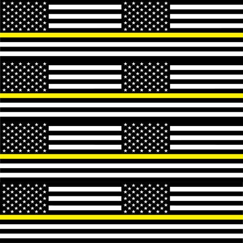 Thin Yellow Line Flag - Large Scale - Printed Vinyl