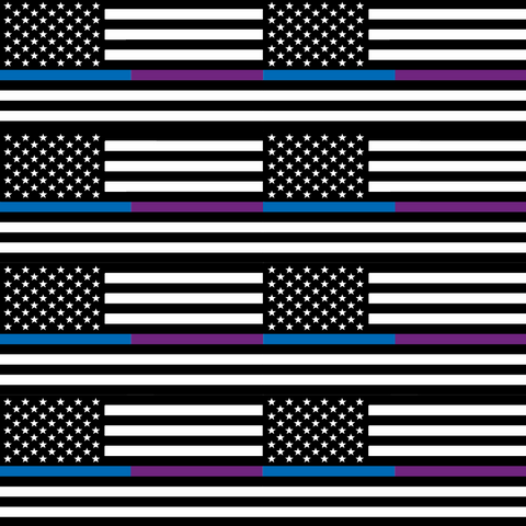 Thin Blue & Purple Line Flag - Large Scale - Printed Craft Vinyl