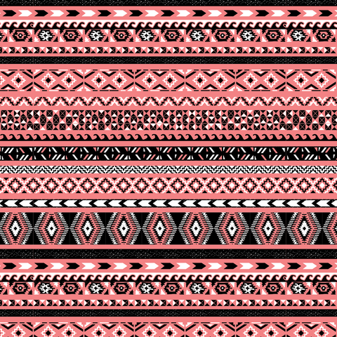 Tribal Coral Printed Vinyl