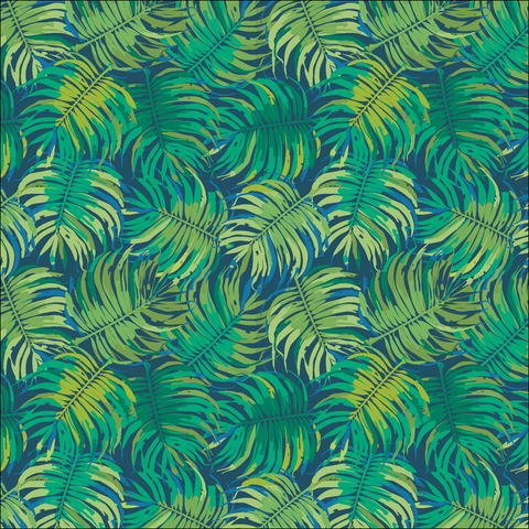 Tropical Leaves Patterned Vinyl - Craft Vinyl - Printed Adhesive 651 and Heat Transfer HTV