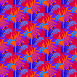 Tropical Nights Palm Tree Patterned Craft Vinyl - Printed Adhesive Outdoor or Heat Transfer Vinyl