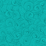 Turquoise Swirls Patterned Vinyl - Vinyl Printcess - 1