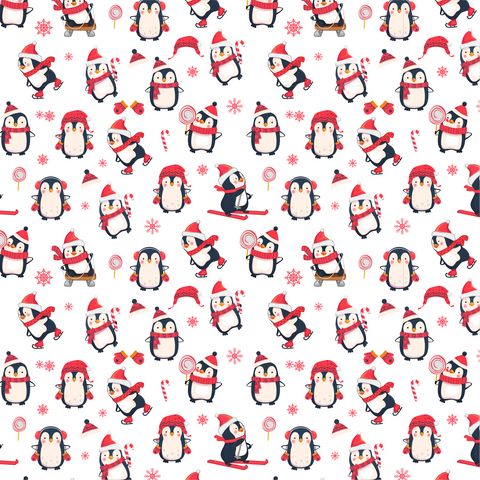 Winter Penguins Printed Craft Vinyl