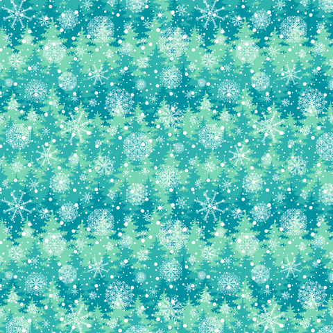 Winter Snow Patterned Vinyl - Snowflakes