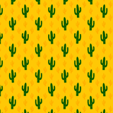 Yellow Sketched Cactus Printed Vinyl