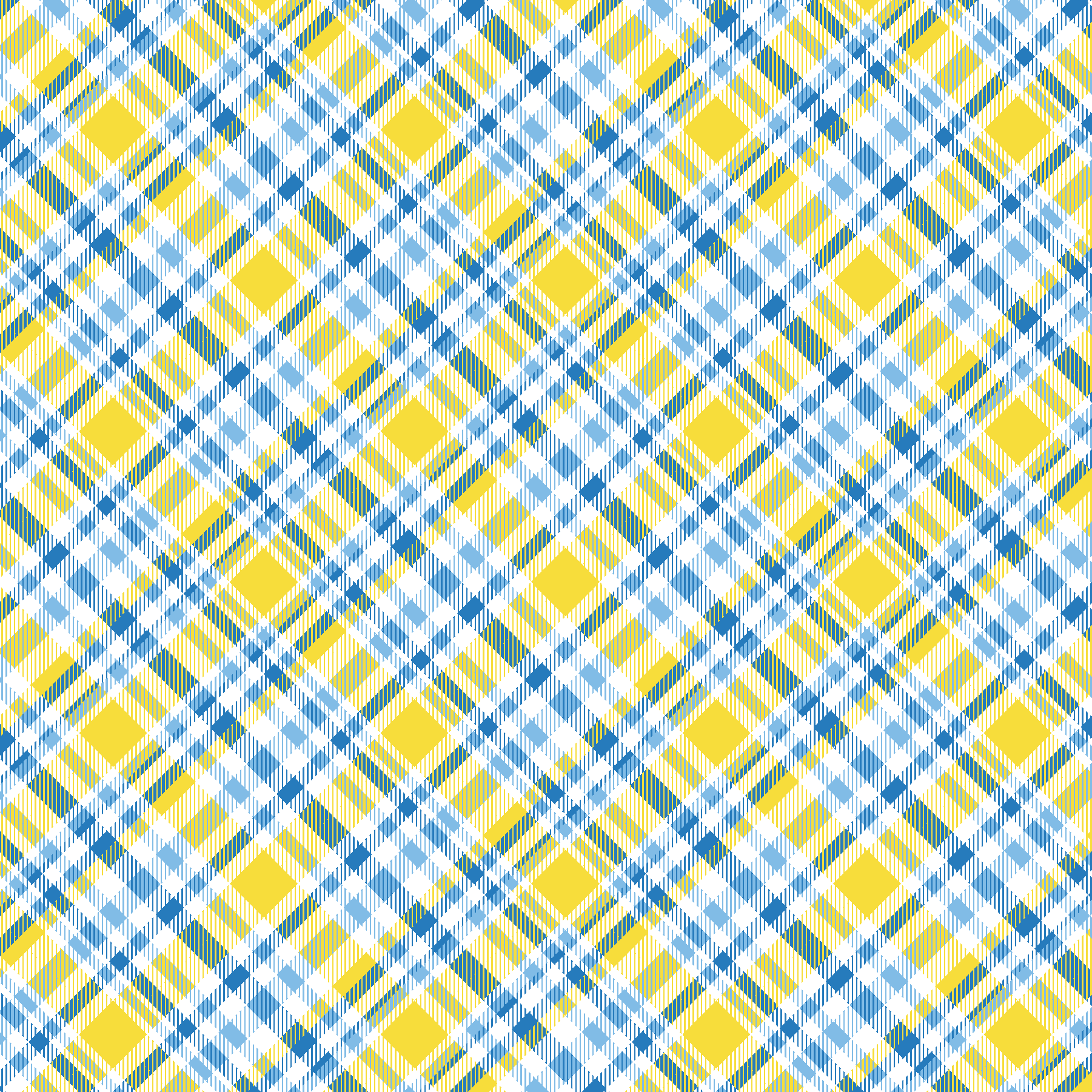 Yellow & Blue Plaid Printed Vinyl