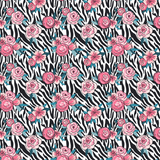 Zebra Floral Patterned Vinyl - Craft Vinyl