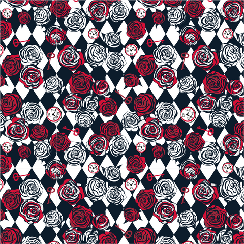 Alice in Wonderland Roses Printed Vinyl