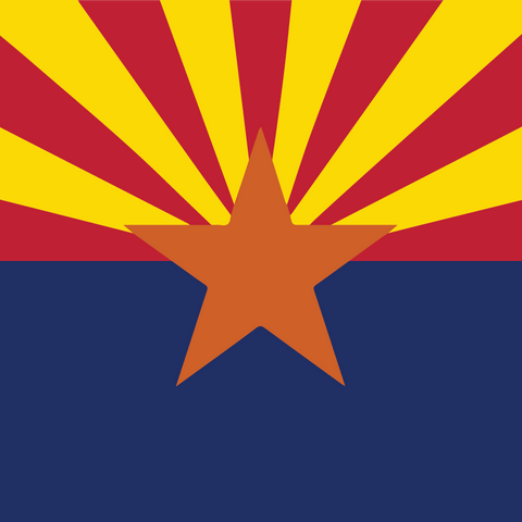Arizona Flag (Square) Patterned Vinyl - Craft Vinyl