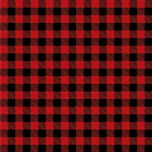 Red Buffalo Plaid Patterned Vinyl - Craft Vinyl