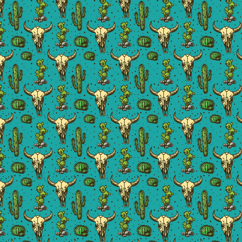 Cactus & Bull Patterned Vinyl - Craft Vinyl