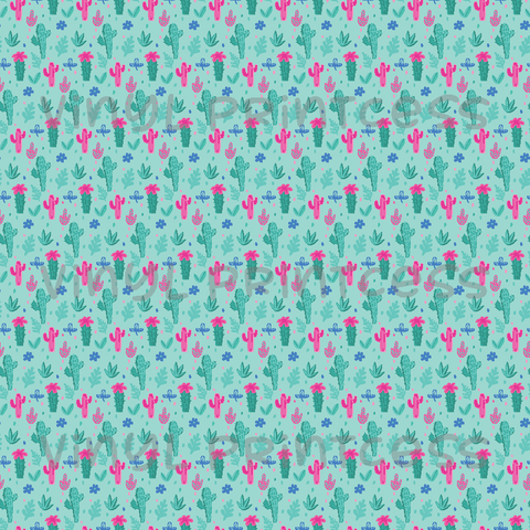 Cactus Printed Vinyl - Craft Vinyl - Mint