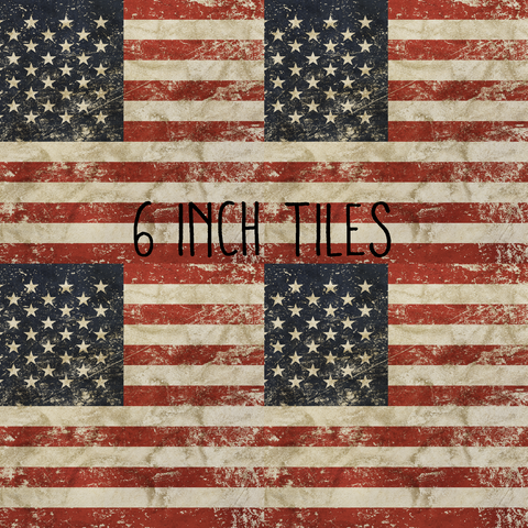 Distressed American Flag Printed Craft Vinyl Vinyl Printcess