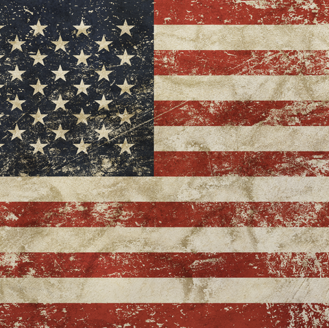 Distressed American Flag Patterned Vinyl - Craft Vinyl