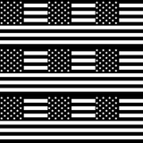 American Flag - Black & White Square Flag Patterned Vinyl - Craft Vinyl