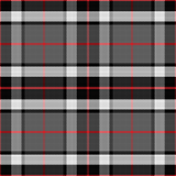 Black and Red Flannel Plaid Pattern Printed Vinyl