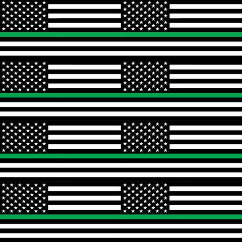 Thin Green Line Flag - Large Scale - Printed Craft Vinyl