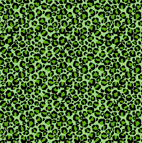 Green Leopard Cheetah Printed Vinyl - Craft Vinyl
