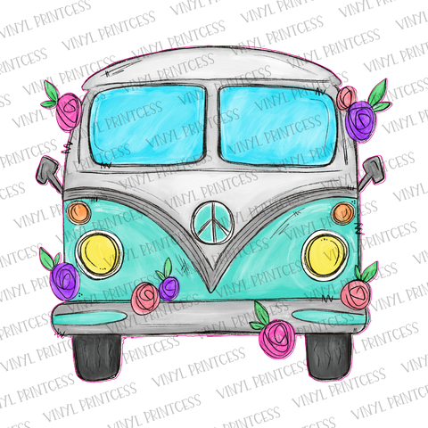 Happy Bus HTV Transfer  - Pre-Cut Heat Transfer Decal