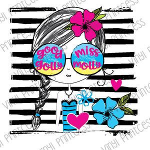 Good Golly Girl PNG Digital Download - Sublimation File Download - Molly Glasses Printable Digital Download