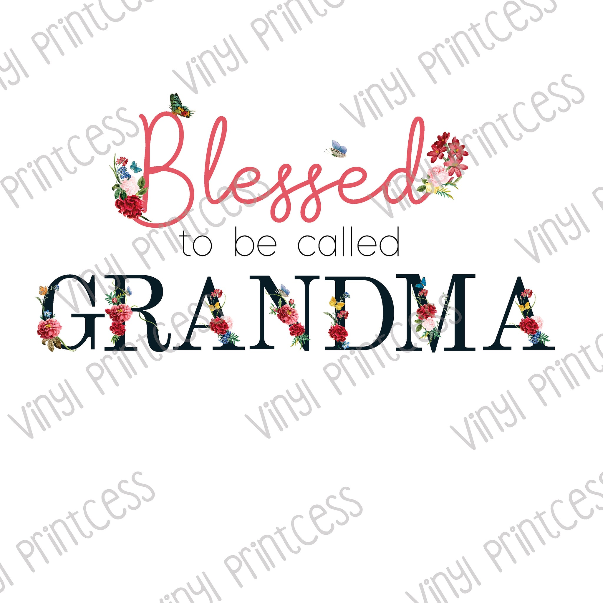 Blessed To Be Called Grandma PNG Digital Download - Sublimation File Download - Blessed Grandma Printable Digital Download