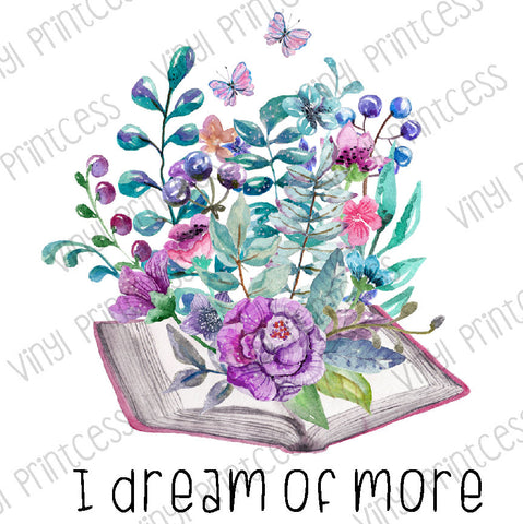 Books and Flowers PNG Digital Download - Sublimation File Download - Watercolor Floral Printable Digital Download