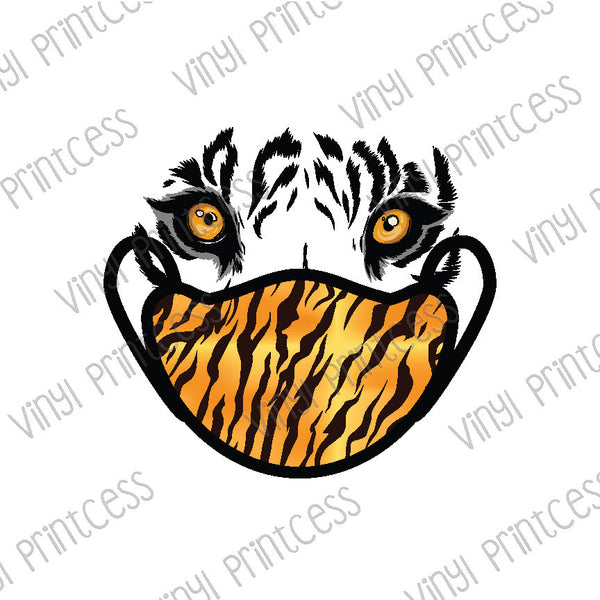 Cool Cats Tiger PNG Digital Download - Sublimation File Download - Wear Your Mask Printable Digital Download, King, Nurse Tiger