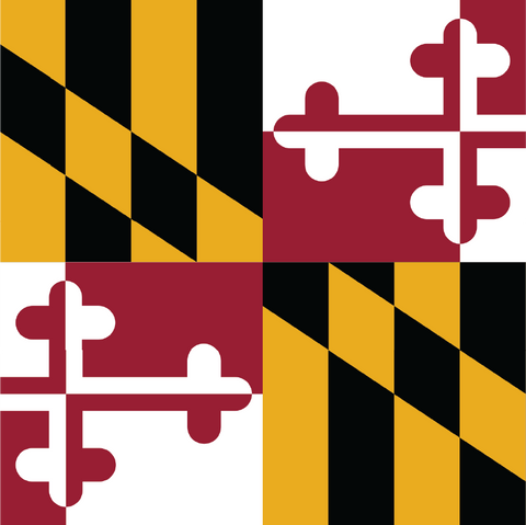 Maryland Flag - Square, Cropped Flag Printed Vinyl