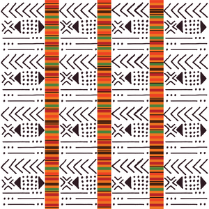 African Mud Cloth Patterned Vinyl - Craft Vinyl - Printed 651 Adhesive or Heat Transfer HTV