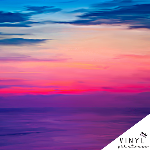 Painted Sunset Patterned Vinyl - Craft Vinyl
