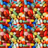 Medication Patterned Printed Vinyl - Pills, Pharmacy