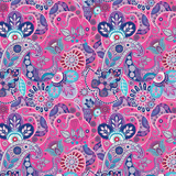 Pink Floral Paisley Patterned Vinyl - Craft Vinyl