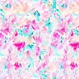Pink and Teal Soft Floral Printed Vinyl