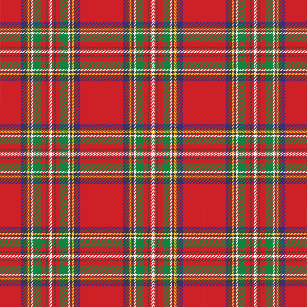 Red and Green Plaid Pattern Printed Vinyl