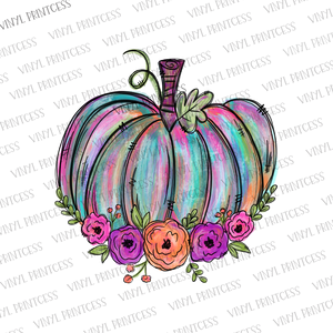 Painted Pumpkin HTV Transfer  - Pre-Cut Heat Transfer Decal