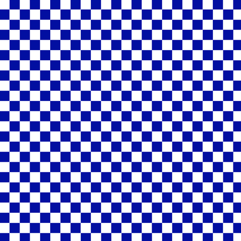 Royal Blue Checkered Printed Vinyl