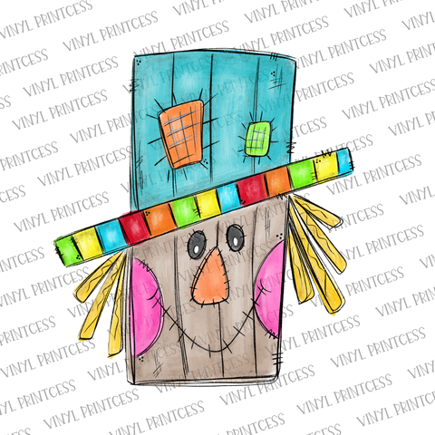 Fall Scarecrow Transfer  - Pre-Cut Heat Transfer Decal
